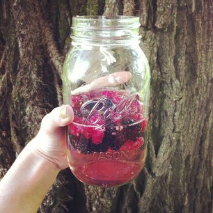 I think I should write a mini book on '101 Things To Make With Berries'. Ever tried shaking them up with a little sprite? Delish!