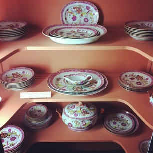 Per my mothers request, 1700's (pre occupied) China. Bought it all mom, please deposit the amount of [priceless] in to my account. We will be eating Thanksgiving on the same china as good 'ol George Washington this year. We may not be able to afford dinner but by golly we'll have some fancy dishes!