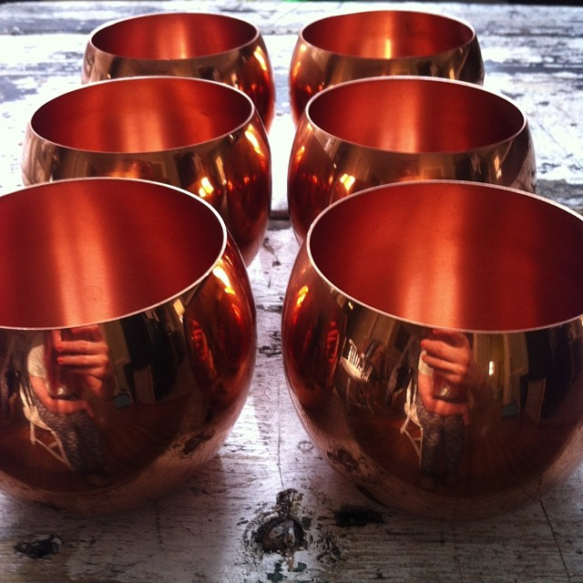 Can't wait to put these vintage copper lookers to good use, for rent at @thesouthernsoiree